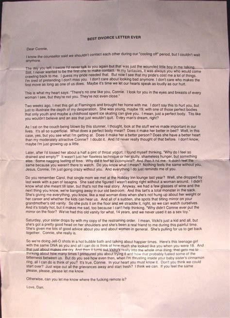 Divorce Apology Letter Divorce Letter Template