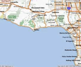 malibu california on map southern california city maps orange county map