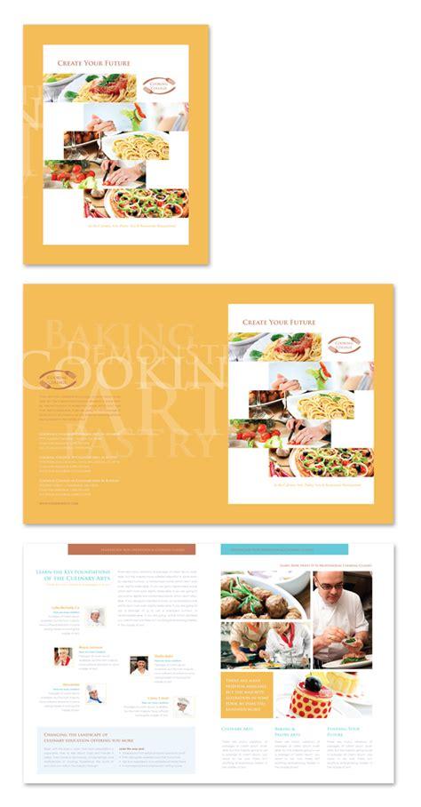 college brochure templates cooking college brochure template
