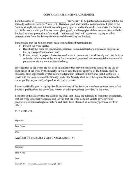 assignment agreement template copyright assignment agreement in word and pdf formats