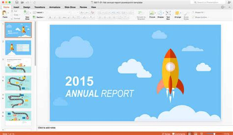 Free Microsoft Office 2016 Preview For Mac Annual Report Powerpoint Template