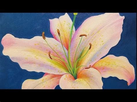 watercolor water lily tutorial lily acrylic painting tutorial live step by step flower