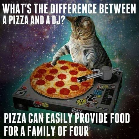 Meme Pizza - what is the difference between a pizza and a dj justpost