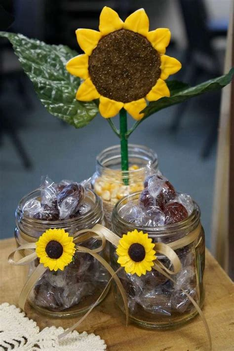 Sunflower Themed Bridal Shower Ideas by Counrty Sunflowers Bridal Wedding Shower Ideas
