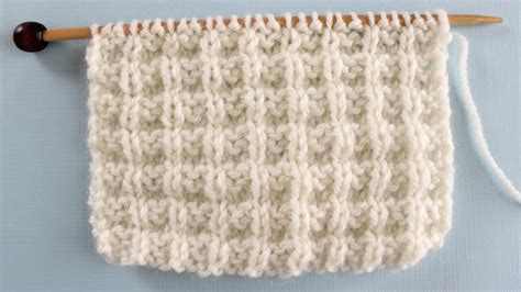 waffle stitch knitting knit stitch patterns for absolute beginning knitters