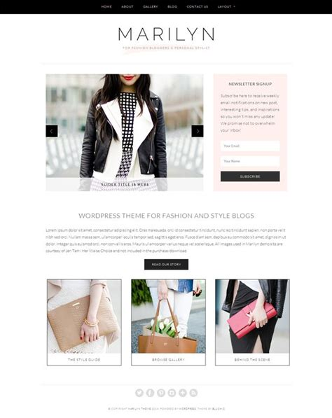 themes for tumblr fashion blogs 256 best images about design ideas on pinterest