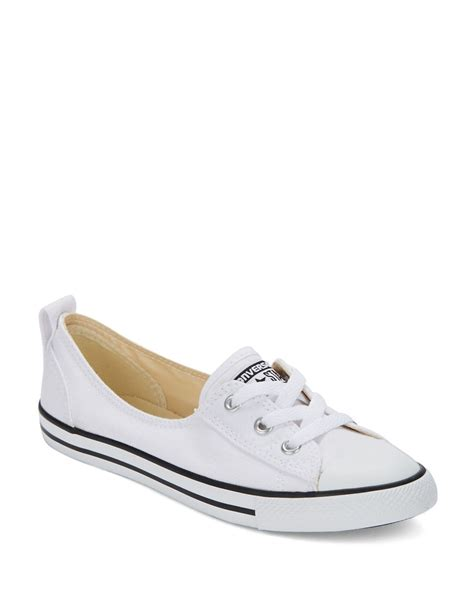 white lace sneakers converse ballet lace up sneakers in white lyst
