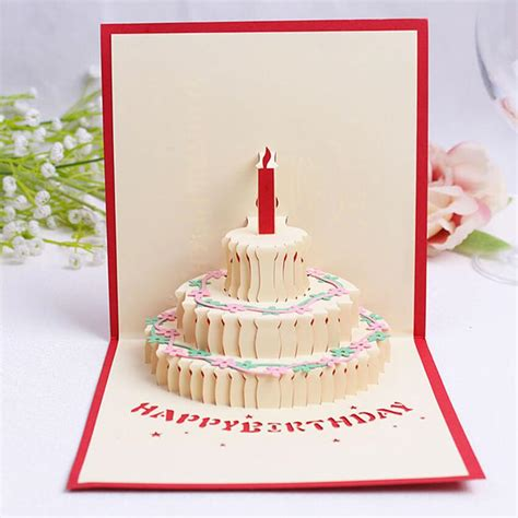 birthday cake popup card happy birthday kirigami free template birthday pop up card bigsmall in