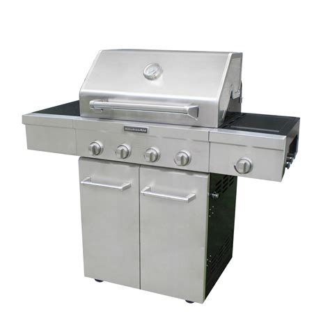 Kitchenaid Outdoor Grills by Shop Kitchenaid Stainless Steel 4 Burner 48 000 Btu