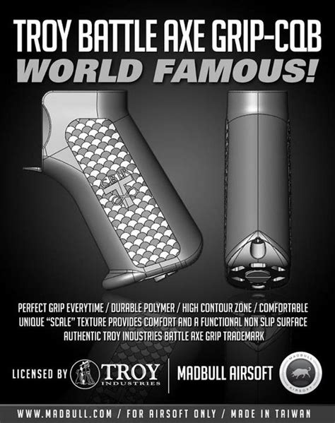 Troy Mba Review by Madbull Troy Battle Ax Cqb Grip Popular Airsoft