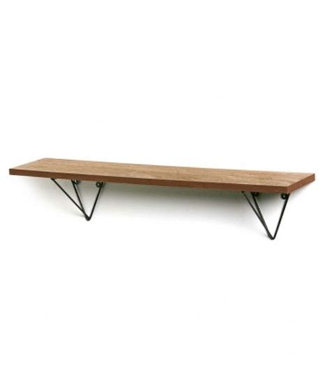 wood and metal design wall shelf wadiga