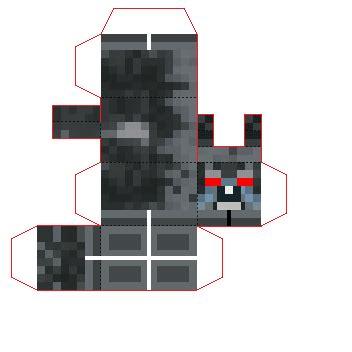 Minecraft Papercraft Wolf - papercraft minecraft mini wolf