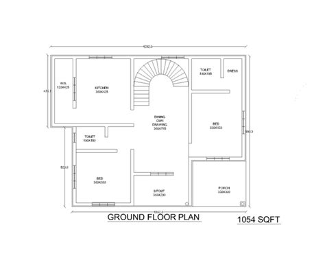 2bhk house design plans two low cost 2bhk independent single story house plan 870