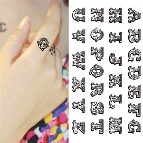 temporary tattoo alphabet compare prices on alphabet tattoo designs online shopping