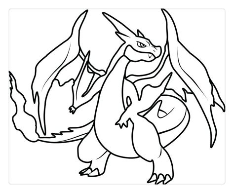 Charizard X Coloring Page by Charizard Coloring Pages Mega Y X Acnee