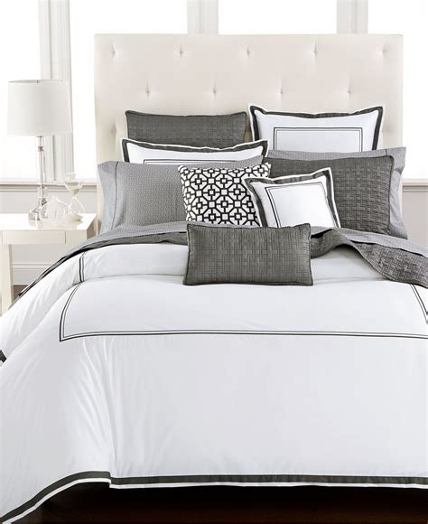 Macy Bed by Hotel Collection Embroidered Frame Bedding Collection