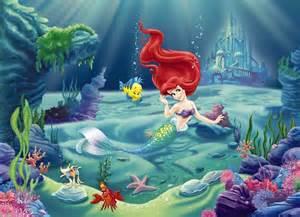 Flower Wall Murals Uk wall mural photo wallpaper ariel the little mermaid kids
