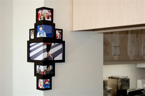 corner photo frames wrap around photo frame lets you decorate that odd corner post
