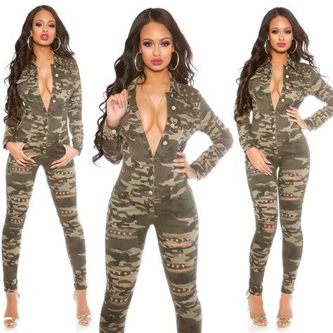 Serly Denim Tunik Fit L Gd s studded camouflage ripped denim jumpsuit xs s m l xl ebay