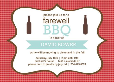 going away template going away invitation templates