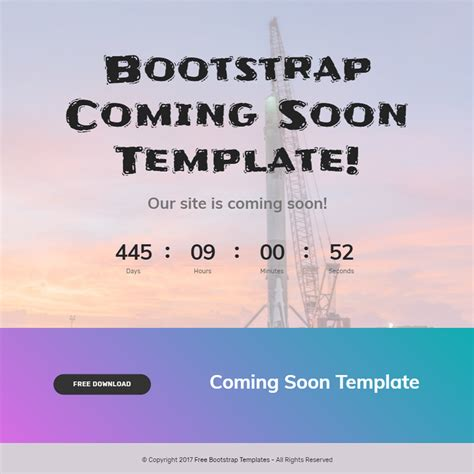 coming soon template 80 free bootstrap templates you can t miss in 2018