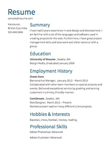 How To Create A Work Resume by Free R 233 Sum 233 Builder Resume Templates To Edit