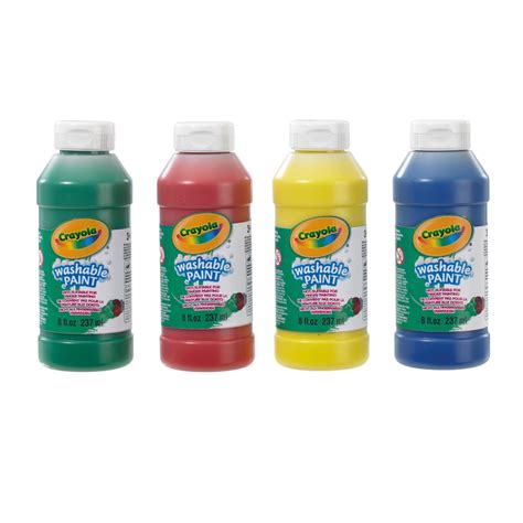 farbe abwaschbar bargain crayola 4 pack washable ready mix paint just 163 3