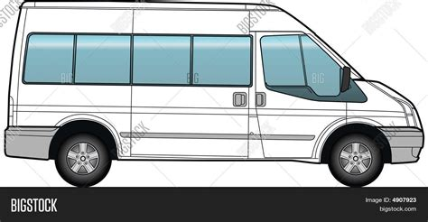 minibus bus template vector photo bigstock