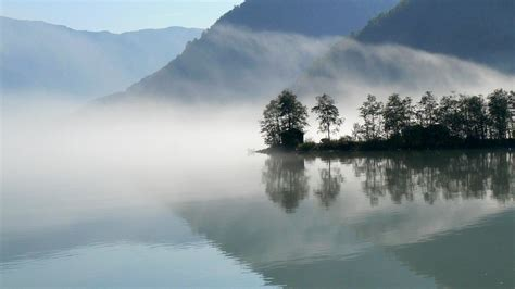 Fog on a reflective lake wallpaper   AllWallpaper.in #6668
