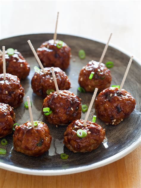 korean style cocktail meatballs appetizer recipe spoon