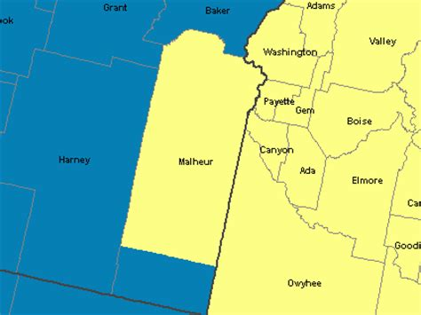 map of oregon time zones mountain time zone map oregon images