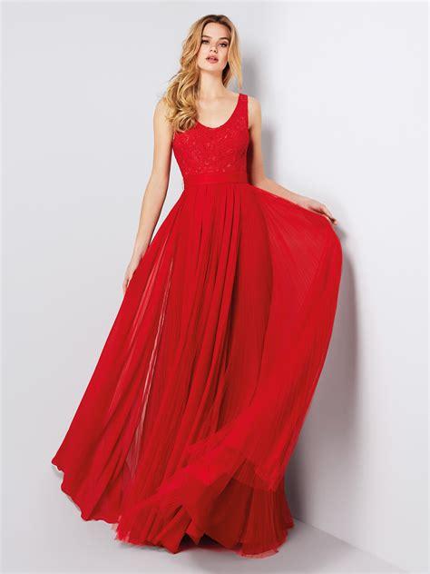 cocktail jurken pronovias germaine romantic evening gown two piece effect pronovias