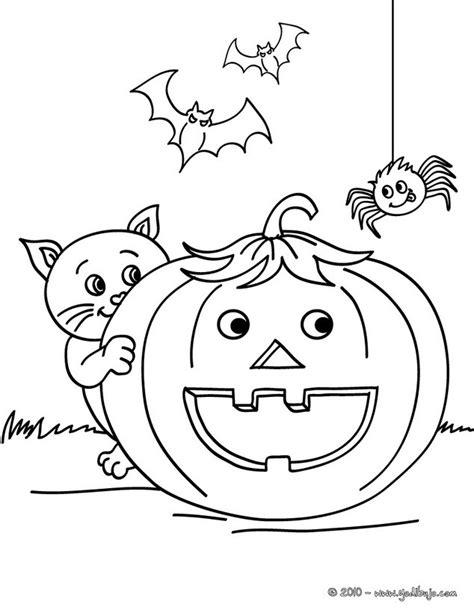 imagenes en negro de halloween dibujos para colorear calabaza con ara 241 a y gato negro