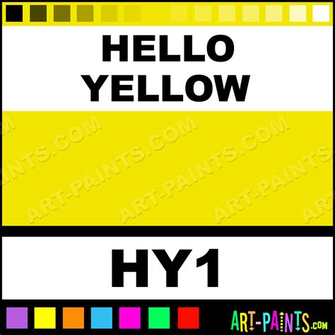 Hello Yellow hello yellow colorworks ink paints hy1 hello