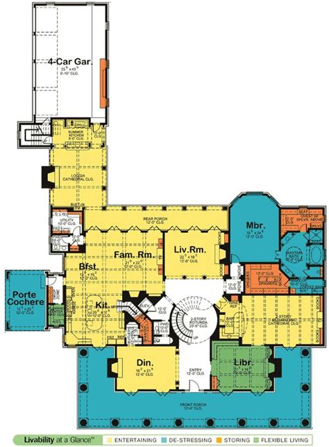 southern floor plans plan 42156db your own southern plantation home