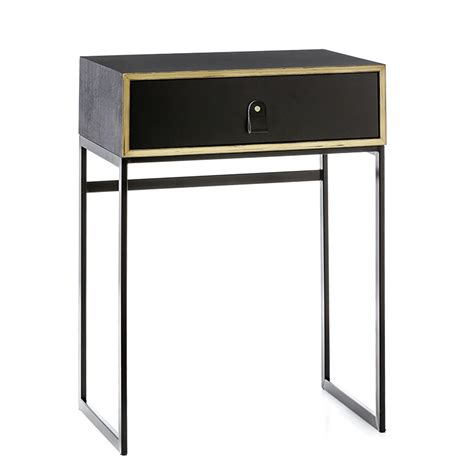 Adairs Side Table Home Republic Milo Side Table Black Veneer Furniture Side Tables Adairs