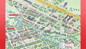 canmore canada map 3d mobimaps map guides canmore maps