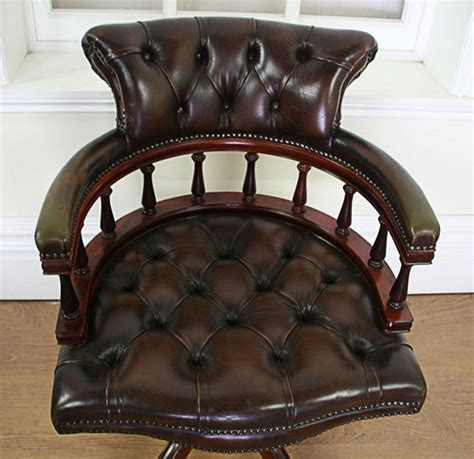 antique style leather office chairs antiques atlas style leather revolving office