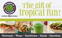 Where To Buy Tropical Smoothie Gift Card - buy tropical smoothie cafe gift cards giftcardplace