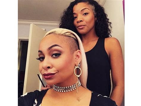 raven symone mohawk raven symone tests out new platinum blonde hairpiece