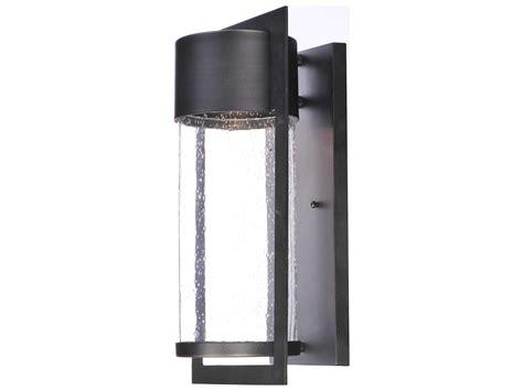 Focus Outdoor Lighting Maxim Lighting Focus Black With Glass Led Outdoor Wall Light Mx55894bgbk