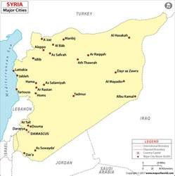 cities in syria syria cities map