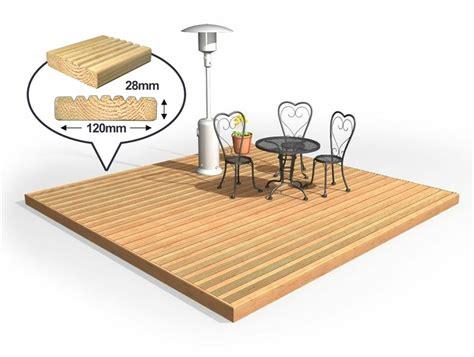 Patio Deck Kit by Easy Deck Patio Kit 6m X 6m No Handrails