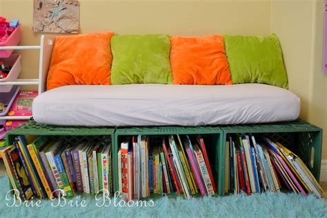 reading bench with storage milk crate book storage and reading bench brie brie blooms