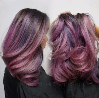 rambut ombre bounces and curls