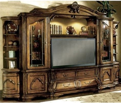 aico furniture tuscano entertainment wall unit 3409ent