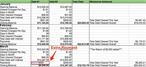 My Debt Repayment Spreadsheet My Alternate Life Debt Reduction Template