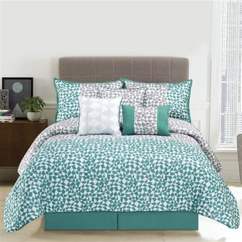 design studio home collection bedding design studio piccadilly 7 piece comforter set walmart com
