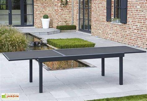 table extensible pas cher salon de jardin modulo table extensible 12 fauteuils
