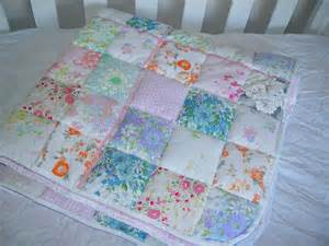 feeling the fabric vintage linen baby quilt